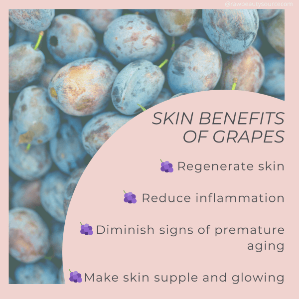 Skin benefits of grapes